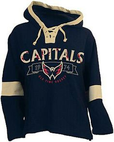 6dad5a2e4 Old Time Hockey Washington Capitals Jetted Lace Hoodie