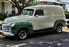 1948 Chevy Thriftmaster panel truck by tiz_herself, via Flickr