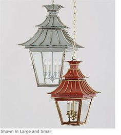 In April's edition of Elle Decor interior designers Katie Ridder and Thomas Jayne select the Hanging Pagoda Lantern for their Top 10 . Ceiling Lights, Interior Light Fixtures, Chinoiserie, Interior Lighting, Lanterns, Light Fixtures, Modern Light Fixtures, Pagoda Lanterns, Elle Decor