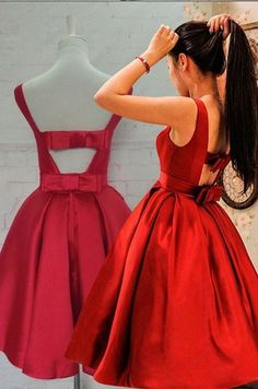 Red Homecoming Gowns,New Prom Dresses,Short Prom Gowns,Sweet 16 Dress,Backless Homecoming Gown Dresses,Chic Cocktail Gowns 2017,Homecoming Dress