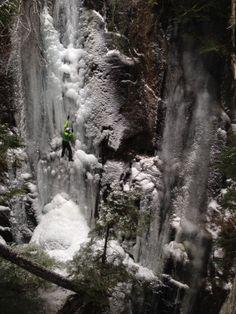 Arc'Athlete Paul McSorley ice climbing. Photo credit:  Brian Goldstone.