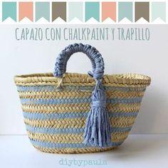 Diy by Paula Beach Basket, Rope Rug, Ethnic Bag, Diy Tote Bag, Straw Tote, Boho Bags, Craft Bags, Original Gifts, Basket Bag