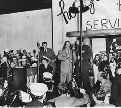 Abbott & Costello At The Grand Opening Of The Hollywood Canteen 1942