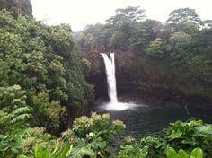 Rainbow Falls, Hilo, Hawaii... but Akaka Falls right up the road is taller.
