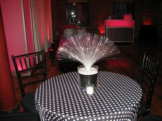 Fiber Optic Centerpiece by The Prop Factory, via Flickr