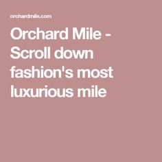 Orchard Mile - Scroll down fashion's most luxurious mile