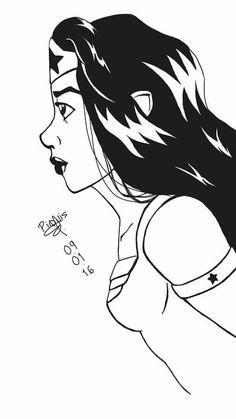 #WonderWoman #character #drawing #wacomtablet #Intuos #art