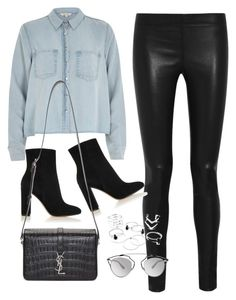 """Untitled #8801"" by katgorostiza ❤ liked on Polyvore featuring River Island, Joseph, Gianvito Rossi, Yves Saint Laurent and Christian Dior"