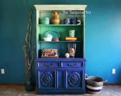 Ombre by The Turquoise Iris ...as seen on ....Miss Mustard Seed's Furniture Friday Feature!