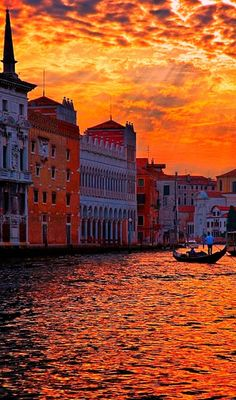 Amazing Sunset Venice, Italy