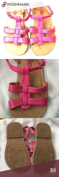 Pink little girls sandals Pink little girls sandals size 8. Good condition.      50% of all our proceeds are donated to Cranio Angel Network and Craniosynostosis support and awareness. Circo Shoes Sandals & Flip Flops