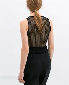 Image 4 of TANK TOP WITH LACE BACK from Zara