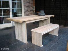 Bauholz Gartentisch Daliah aus Bauholz perfecte für Ihr Zuhause. Kaufen Sie ihn jetzt nur bei uns!    Wohnideen | Einrichtungsideen | Einrichten | Wohnzimmer | Stahl | Bauholz
