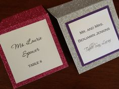 Glitter Place Cards Escort Cards Candy Bar by decadentdesigns, $4.25