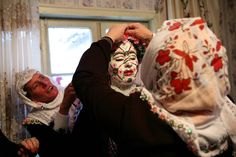 January 6, 2008,, Bulgaria Ribnovo Village, a number of women's