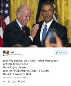 Funniest Memes of Biden and Obama Pranking Trump: Banning Cheese