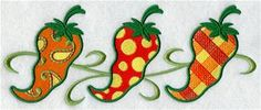 Machine Embroidery Designs at Embroidery Library! - Chili Peppers