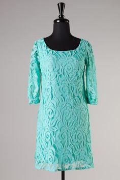 Lacey Lu Turquoise Lace dress