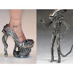 H.R. Giger Alien pumps.  Wow...