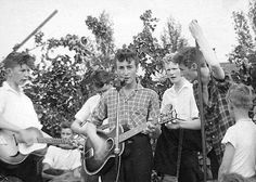 On July 6, 1957 at the outdoor stage of the party venue of St Peter's Church