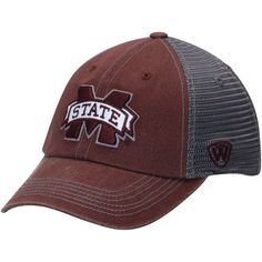 Mississippi State Bulldogs Top of the World Mortar Trucker Hat - Maroon/Charcoal - $22.99
