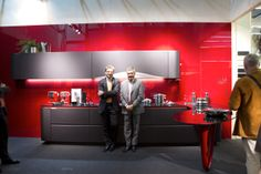 Al Dente design Konstantin Grcic on the kitchen limited edition and the designer Paolo Pininfarina with the President Edi Snaidero. #Eurocucina #iSaloni 2014