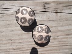 Vintage Inspired  Typewriter Typography Shabby Cottage Chic Dresser Drawer Knob on Etsy, $3.75
