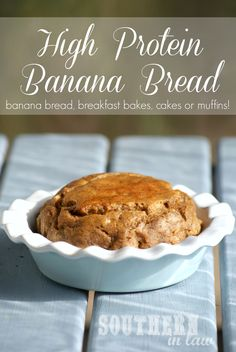 High Protein Banana Bread or Peanut Flour Banana Bread (you can also use protein powder!) - this recipe is super adaptable - make it into muffins, breakfast bakes, protein bars or a cake, the choice is yours! Low fat, gluten free, high protein and clean eating friendly