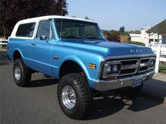 1972 GMC Jimmy  Blue with white top...