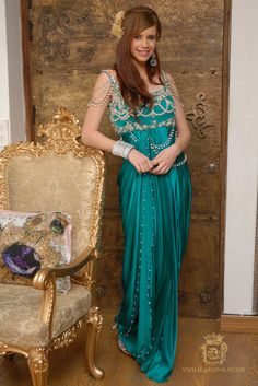 Bollywood bombshell Kalki Koechlin in a beautiful designer party wear evening gown from Anjalee and Arjun Kapoor collection