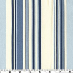 Waverly Sequence Stripe Fabric Porcelain Blue - Discount Designer Fabric - Fabric.com