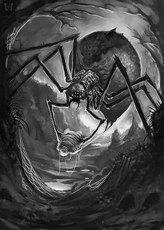 "whitesoulblackheart: "" Giant Spider by Scott Purdy © (Please leave credit … Ƹ̴Ӂ̴Ʒ) """