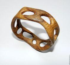 Купить Браслет из дерева (дуб) - браслет, браслеты ручной работы, деревянные браслеты, дуб, из дерева