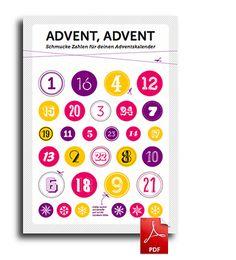 Advent, Advent   Papier und Anhänger für Adventskalender