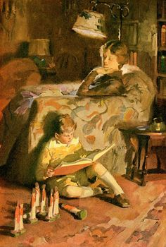 Haddon Sundblom (American, 1899-1976)Books Are Keys that Unlock the Past, the Present, and the Future, 1927. Painted for the Cream of Wheat company.