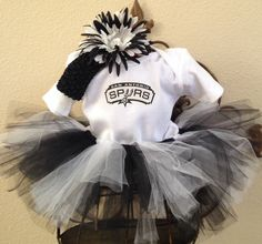 Spurs Baby Team Color Shirt And Short Set Spurs Basketball Baby