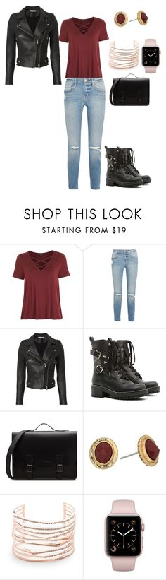 """Bike Ride"" by dixiedoo on Polyvore featuring Topshop, Frame, IRO, RED Valentino, The Sak and Alexis Bittar"