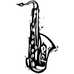 Tim Holtz Rubber Stamp CARVED SAXOPHONE Stampers Anonymous M1-2426