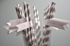 Five Tips for Making Drinking Straw Flags from The Wedding Bee