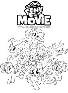 Here Is The Happy Meal My Little Pony Movie Coloring Page Click Picture To See Video