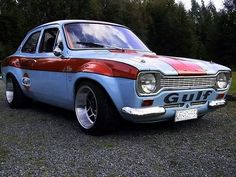 Ford Gulf Escort Source by Escort Mk1, Ford Escort, Ford Capri, Ford Rs, Car Ford, Ford Classic Cars, Classic Sports Cars, Ford Motor Company, Maserati