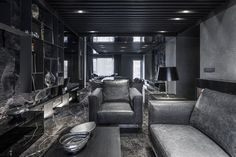 black interior design bedroom - Google Search