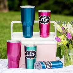 Stay hydrated in style! Turn your tumbler trendy with self-adhesive vinyl & chalkboard stickers.