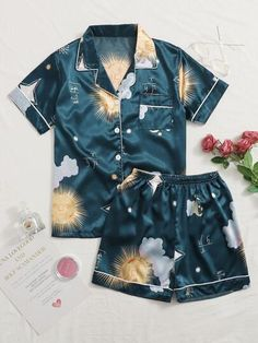 Cute Pajama Sets, Cute Pjs, Cute Pajamas, Cute Lazy Outfits, Pretty Outfits, Teen Fashion, Fashion Outfits, Diy Summer Clothes, Cute Sleepwear