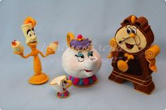 Игрушка Вязание крючком Миссис Поттс и Чип из м/ф Красавица и чудовище Пряжа фото 5