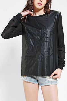 Sparkle & Fade Vegan Leather Football Top #gamedaywives #football #fashion