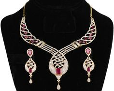 Bridal and Wedding Party Jewelry 164310: Ad Ethnic Gold Tone Decorated Ruby Stone Bollywood Necklace Bridal Jewelry -> BUY IT NOW ONLY: $59.99 on eBay!