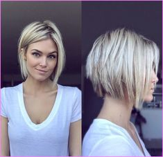 42 Best Short Bob Cuts for Get Your Haircut Inspiration Today!, Best Short Bob Cuts Relationships with short female haircuts all fold differently. Someone considers them very attractive, stylish and practical. Modern Bob Haircut, Short Blonde, Short Wavy, Long Bob, Modern Short Hair, Short Fine Hair, Short Pixie, Hair 2018, Short Hairstyles For Women
