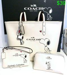 COACH X Peanuts SNOOPY Tote Bag, Cosmetic Case, Wristlet  Key Chain 4pc Set NWT in Ropa, calzado y accesorios, Carteras y bolsos de mujer, Carteras y bolsos de mano | eBay