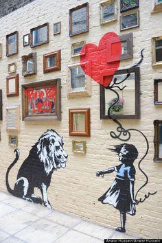 Banksy-Girl & Lion